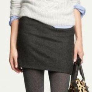 J Crew Wool Blend Mini Skirt